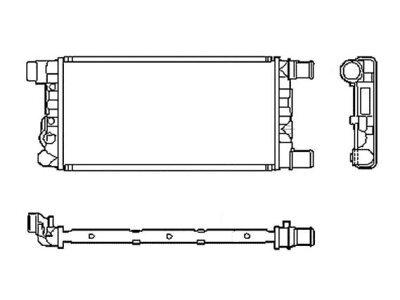 Hladnjak vode Fiat Cinquecento 91-98 450x214