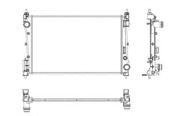 Hladnjak vode Fiat Grande Punto 1.3 MJTD 05-