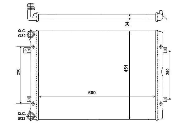 Hladnjak vode Ford Galaxy 00-06 1.9 TDi/TDiPD
