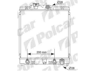 Hladnjak vode Honda Civic 92-96 Denso tip