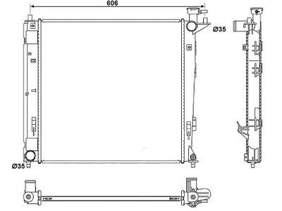 Hladnjak vode Hyundai ix35 09-15
