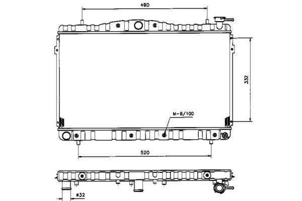 Hladnjak vode Hyundai Lantra 95-00