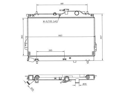 Hladnjak vode Hyundai Matrix CRDi 01-