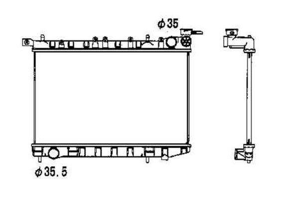 Hladnjak vode Nissan Almera 95-00