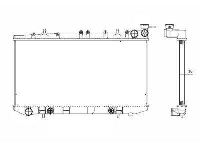 Hladnjak vode Nissan Almera N15 95-99 automatski