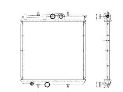 Hladnjak vode Peugeot 206 02- 1.4/1.6./1.9D/2.0/2.0HDI