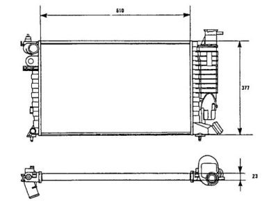 Hladnjak vode Peugeot 306 96-97 bez klime