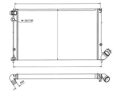 Hladnjak vode Peugeot 406 95-04