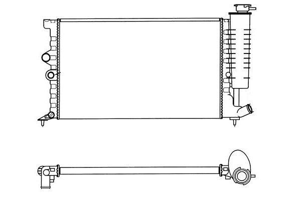 Hladnjak vode Peugeot 406 95-99