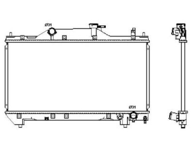 Hladnjak vode Toyota Avensis 00-03