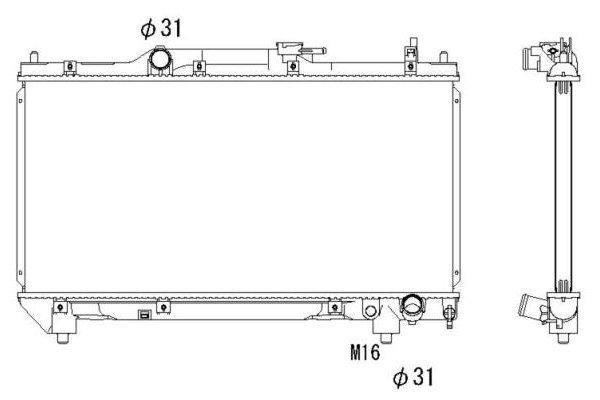 Hladnjak vode Toyota Avensis 98-00