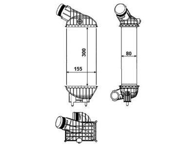 Hladnjak zraka 5712J8-2 - CITROEN C4, 10-