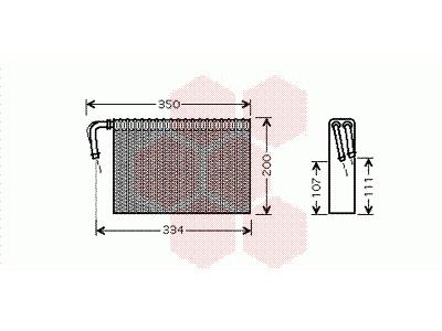 Isparivač BMW 5 E39 00- Automatska A/C