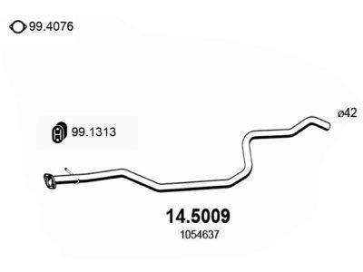 Ispuh 1054637 - Ford Fiesta 95-02, prednja ispusna cijev