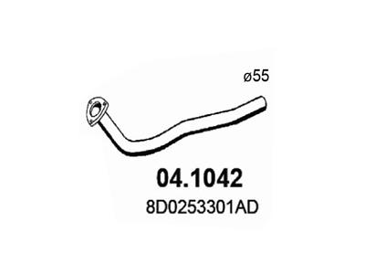 Ispuh Audi A4 94-01, prednja ispusna cijev