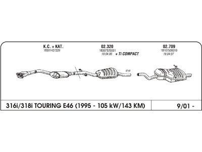 Ispuh BMW 3 E46 1.6 01-zadnji