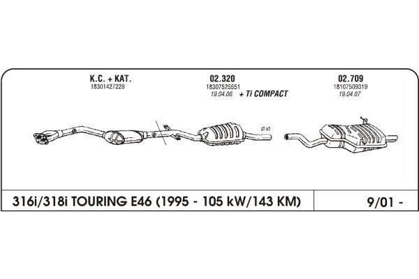 Ispuh BMW 3 E46 1.8 01-zadnji