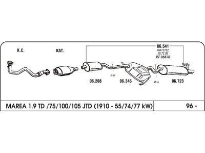 Ispuh Fiat Marea 1.9/2.4 96- zadnji
