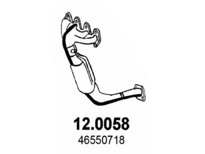 Ispuh Fiat Punto 99-, katalizator