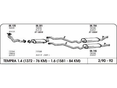 Ispuh Fiat Tempra 1.4/1.6 88-92 prednji