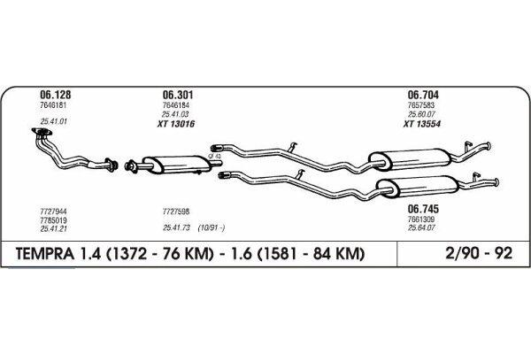 Ispuh Fiat Tempra 1.6 90 kolektor