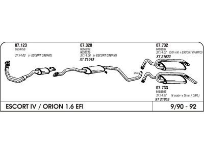 Ispuh Ford Escort 1.6 90 zadnji