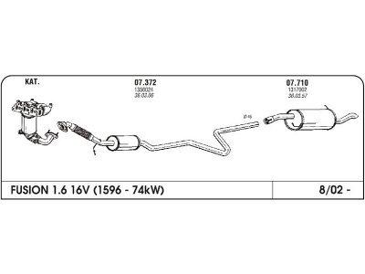 Ispuh Ford Fusion 02-05 stražnji