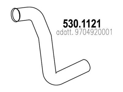 Ispuh Mercedes-Benz Atego 04-, prednja ispusna cijev