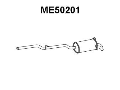 Ispuh Mercedes-Benz Razred C (W203) 00-07, zadnji lonac