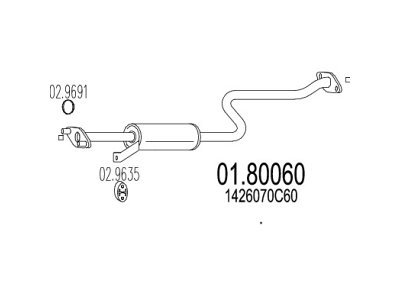 Ispuh Suzuki Swift 89-01, 1.3 , srednji lonac