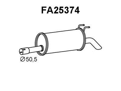 Ispušna cijev Fiat Multipla 99-10 1.9 JTD, zadnji lonac