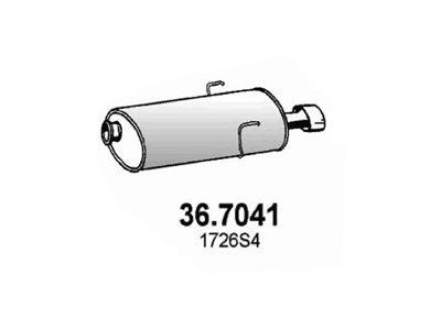 Ispušna cijev Peugeot 406 99-04 2.0 16V, zadnji lonac