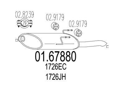 Ispušna cijev Peugeot 406 99-04 2.0 HDI / 2.2 HDI zadnji lonac