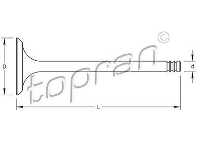 Ispušni ventil Volkswagen Polo 81-94