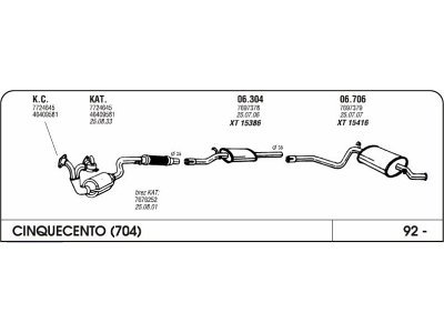 Izduvni lonac Fiat Cinquecento 0.7/0.9 92- (zadnji)