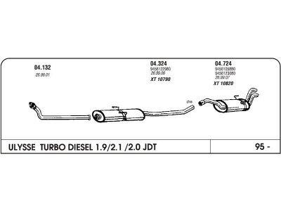 Izduvni lonac Fiat Ulysse 1.9/2.1/2.0 95- (zadnji)