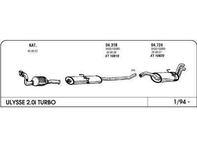 Izduvni lonac Fiat Ulysse 2.0/1.9 94 (zadnji)