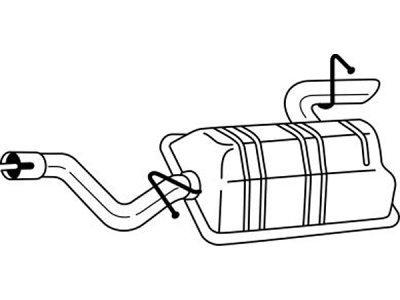 Izduvni lonac Mercedes-Benz Viano 03- 2.0 / 2.2, (zadnji)