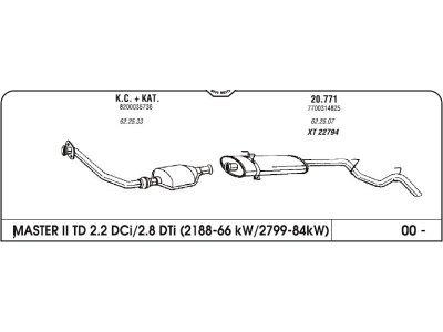 Izduvni lonac Renault Master II 2.2/2.8 00- (zadnji)