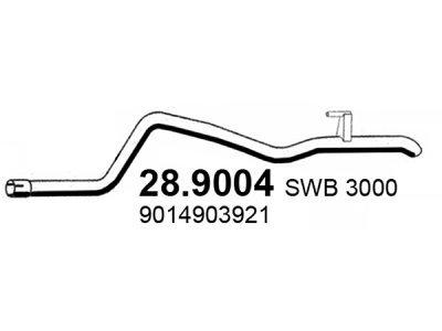 Izduvni lonac Volkswagen LT 96-06 ,  (zadnja izduvna cev)