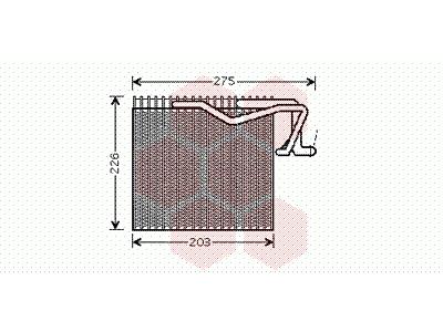 Izparilnik 40 00 V287 - Citroen Berlingo 96-02
