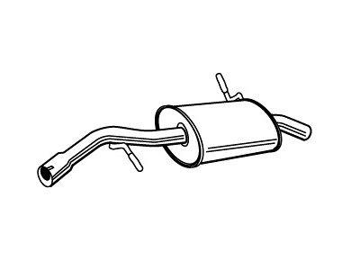 Izpuh Citroen C2 03- 1.4 HDi,  zadnji lonec