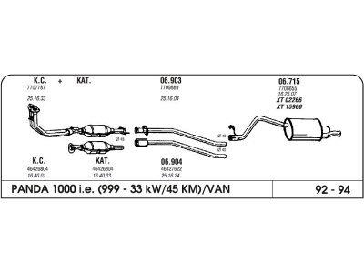 Izpuh Fiat Panda 1.0 92-94 vm.cev
