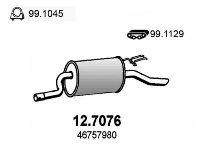 Izpuh Fiat Punto 99-09, zadnji lonec