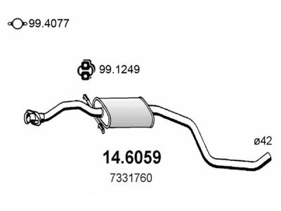 Izpuh Ford Escort 93- 1.6 , srednji lonec