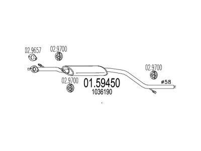 Izpuh Ford Focus 96-00  1.8 TD, srednji lonec