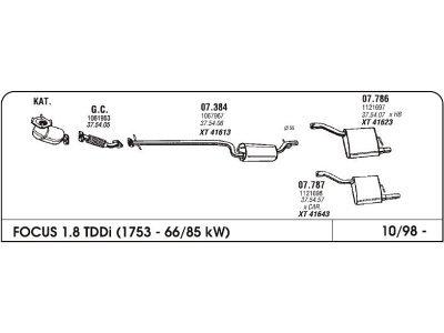Izpuh Ford Focus Kar.1.8 TD 98 zadnji