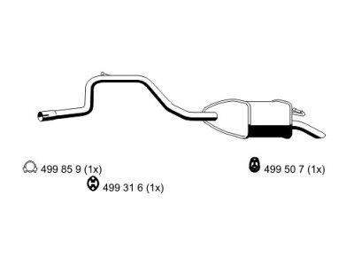 Izpuh Ford Mondeo 97-00 1.6 i / 1.8 i, zadnji lonec