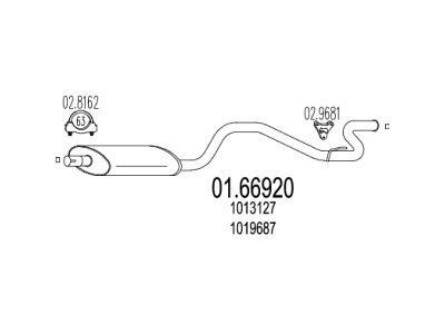 Izpuh Ford Transit 94-00 2.5 DI / TD, zadnji lonec