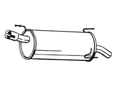 Izpuh Opel Meriva 03-10, zadnji lonec